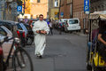 During the celebration the feast of corpus christi body of christ krakow poland jun also known as domini is a latin rite Stock Photos