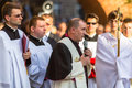 During the celebration the feast of corpus christi body of christ krakow poland jun also known as domini is a latin rite Stock Photography