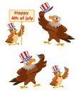 Celebration of the fourth of July. An American eagle