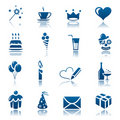 Celebration icon set Royalty Free Stock Photo
