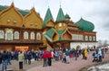 The celebration of Maslenitsa in Kolomenskoye, Moscow, Russia