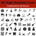 Celebration and Music Smooth Icons Royalty Free Stock Photo