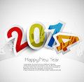 Celebration for new year colorful background with stylish text design Royalty Free Stock Photography