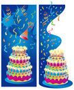 Celebration Party Banners Royalty Free Stock Photos