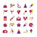 Celebration Party Icons Set Royalty Free Stock Photo