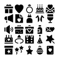 Celebration and Party Vector Icons 1 Royalty Free Stock Photo