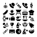 Celebration and Party Vector Icons 4 Royalty Free Stock Photo