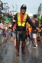 Celebration of Songkran Festival, the Thai New Year on Phuket Royalty Free Stock Photo