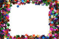 Celebration stars frame Royalty Free Stock Photo