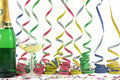 Celebration streamers Stock Photos
