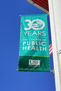 Celebration years of college of public health a flag for anniversary usf university south florida taken in tampa fl Stock Photo