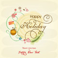 Celebrations of Happy Holiday, Merry Christmas and New Year.