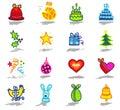 celebrations icons set 1 Royalty Free Stock Photo