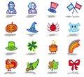 Celebrations icons set 2 Royalty Free Stock Photo