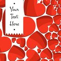 Celebratory background of bright red hearts and the words Royalty Free Stock Images