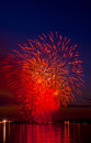 Celebratory bright firework in a night sky Royalty Free Stock Photography