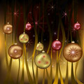 Celebratory Christmas background gold Stock Photo