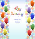 Celebratory color background text happy birthday congratulatory card invitation Stock Photos