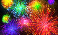 Celebratory firework Royalty Free Stock Photo