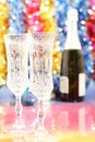 Celebratory glasses of champagne to the Christmas Royalty Free Stock Photography
