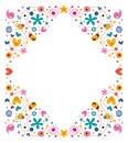 Celebratory happy cartoon frame design element Royalty Free Stock Photos