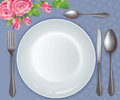 Celebratory tableware contains transparent objects eps Royalty Free Stock Photo