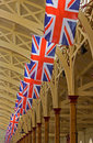 Celebratory Union Flags Stock Images