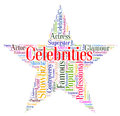 Celebrities Star Means Notorious Renowned And Celebrity Royalty Free Stock Photo