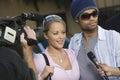 Celebrity Couple And Paparazzi Royalty Free Stock Photo