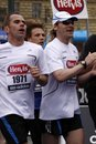 Celebrity Pavel Nedved in Prague half marathon Royalty Free Stock Photo
