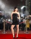 Celebrity on red carpet