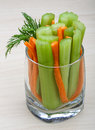 Celery and carrot sticks Royalty Free Stock Photo