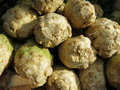 Celery root is an excellent ingrediant for any vegetable soup Stock Photo