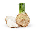 Celery root on white background Royalty Free Stock Image