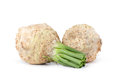 Celery root on white background Royalty Free Stock Photography