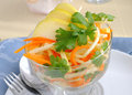 Celery salad with carrot and apple Royalty Free Stock Images