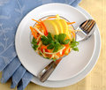 Celery salad with carrot and apple Royalty Free Stock Image