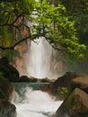 Celestial blue waterfall Royalty Free Stock Photo
