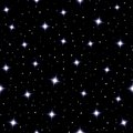 Celestial seamless background with sparkling stars Royalty Free Stock Photo