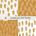 Celestial seamless pattern set with magical crystal. Royalty Free Stock Photo