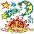 Celestial symbols 3 Royalty Free Stock Photo