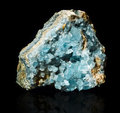 Celestite celestine druse on black Royalty Free Stock Images