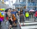 Celina Jaitly in Toronto's 35th annual Pride parade Royalty Free Stock Photo