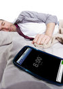 Cell Phone Alarm Clock Royalty Free Stock Photo