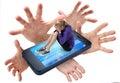 Mobilní telefon šikany sociální média