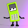 Cell phone with cute and funny emotional face Royalty Free Stock Images
