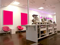 Cell phone store interior of a Royalty Free Stock Photography