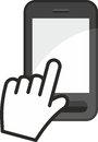 Cell phone touch screen symbol Royalty Free Stock Images