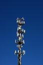 Cell Phone Tower on Dark Blue Royalty Free Stock Photo