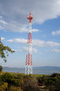 Cell phone tower near lake chapala mexico Stock Images